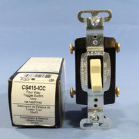 Pass & Seymour Ivory COMMERCIAL 4-WAY Toggle Light Switch 15A CS415-I Boxed
