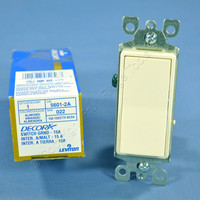 New Leviton Decora Almond Rocker Wall Light Switch 15A Single Pole 5601-2A Boxed