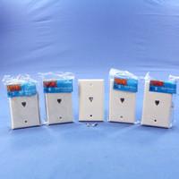 5 NIP Leviton White 4-Wire Phone Jack Wallplates RJ11 Modular Telephone C0249-W