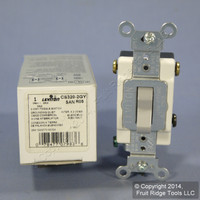 New Leviton Gray 3-Way COMMERCIAL Toggle Wall Light Switch 20A CS320-2GY Boxed