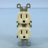 Pass & Seymour Light Almond Straight Blade Duplex Receptacle Outlet Self-Grounding NEMA 5-15R 15A 125V 3232-SLA