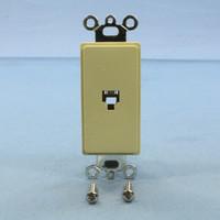 Pass and Seymour Ivory Plastic Flush Decorator Phone Jack Telephone Wallplate 1-Gang Insert 26TE14-I
