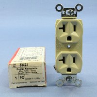 Pass & Seymour Ivory Commercial Grade Straight Blade Duplex Receptacle Outlet NEMA 5-20R 20A 5342-I