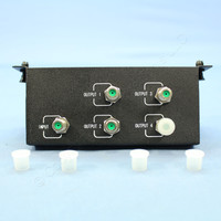 Cooper 4-Way F-Type Passive Video 4x6 Telephone Distribution Cable Splitter Module CSHC46