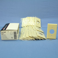 "25 Cooper Ivory 1.406"" Receptacle Single Outlet 1-Gang Standard Thermoset Wallplate Covers 2131V"