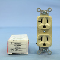 Pass and Seymour Ivory Construction Grade Straight Blade Duplex Outlet Receptacle NEMA 5-15R 15A 125V CRB5362-I