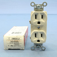 Pass and Seymour Light Almond Construction Grade Straight Blade Duplex Outlet Receptacle NEMA 5-15R 15A 125V CRB5262-LA
