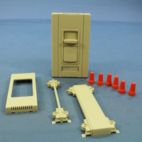 Pass and Seymour Ivory Titan Series 4-Wire Fluorescent Slide Dimmer Single Pole 3-Way 24 VDC CD4FB3-PI