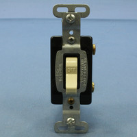 Pass and Seymour Ivory COMMERCIAL GRADE Single Grade ON/OFF Toggle Wall Light Switch 15A 120/277V Bulk CS115-I