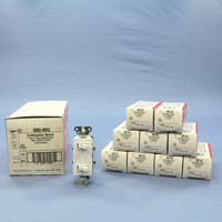 10 Pass & Seymour White COMMERCIAL Single Pole Dual Duplex Decorator Toggle Light Wall Switches Grounded 15A 120V 680-WG