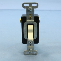 Pass & Seymour Light Almond COMMERCIAL Grade Quiet Toggle Wall Light Switch 3-Way 15A Bulk 120/277VAC CS315-LAU