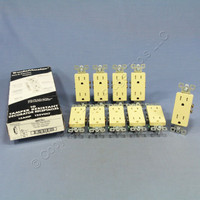10 Pass and Seymour Ivory Tamper Resistant Straight Blade Decorator Receptacle Outlets NEMA 5-15R 15A 125V 885TR-I