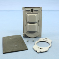 Pass & Seymour Flush Mount Cast Weatherproof Toggle Switch Cover w/ Gasket CA1-G