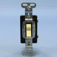 Pass & Seymour Ivory COMMERCIAL Grade Single Pole Quiet Toggle Wall Light Switch 15A Bulk CSB115-I
