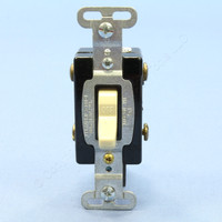 Pass and Seymour Ivory COMMERCIAL Grade DOUBLE POLE Toggle Wall Light Switch Control 15A 120/277V AC Bulk CSB215-IU
