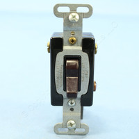 Pass & Seymour Brown COMMERCIAL Grade DOUBLE POLE Toggle Wall Light Switch 15A Bulk CS215-I