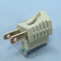 Cooper Gray 3-Prong Plug Outlet Cord Adapter Receptacle Grounding NEMA 1-15P to 5-15R 15A 125V 419GY