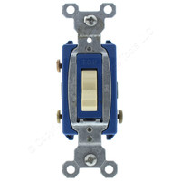 Pass & Seymour Ivory Commercial HARD USE 3-Way Quiet Toggle Wall Light Switch 15A 120/277V Bulk CSB15AC3-I