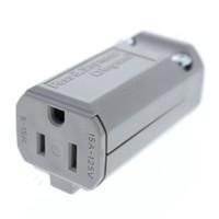 Pass & Seymour MaxGrip Gray Extra Heavy Duty Spec Grade Straight Blade Plug Connector NEMA 5-15R 15A 125V PS5969-GRY