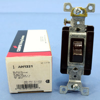 Arrow Hart Brown INDUSTRIAL Grade Quiet Toggle Wall Light Switch 20A 120/277V AC 1221