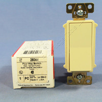 Pass and Seymour Ivory COMMERCIAL 4-Way Decorator Rocker Light Switch 15A 2604-I