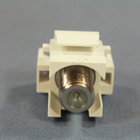 Pass and Seymour White Keystone F-Type Recessed Nickel Self-Terminating Coaxial Video Cable Jack F-Connector KSFF-W