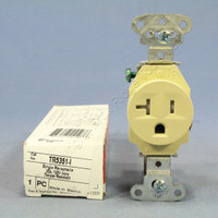 Pass & Seymour Ivory Tamper Resistant Commercial Straight Blade Single Receptacle Outlet NEMA 5-20R 20A 125V TR5351-I
