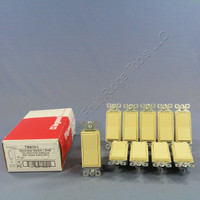 10 Pass and Seymour Ivory Decorator Single Pole Rocker Wall Light Switches 15A 120/277VAC TM870-I