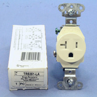P&S Light Almond Tamper Resistant Commercial Straight Blade Single Receptacle Outlet NEMA 5-20R 20A 125V TR5351-LA
