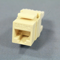 Pass and Seymour Legrand Light Almond Keystone Cat 5e+ Jack Cat5e RJ45 T568A/B Category 5e+ KS58-LA