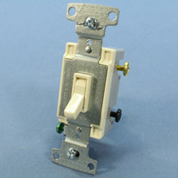 Hubbell Bryant RESIDENTIAL Light Almond 4-Way Toggle Wall Light Switch 15A RS415LA