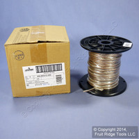 Leviton High Quality 18/2 AWG Gauge Copper Stranded Flexible Clear PVC Jacket Zip Speaker Wire Spool 250 Ft W5212-250