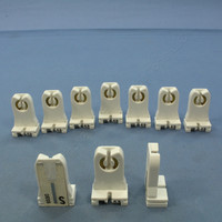 10 Leviton Fluorescent Lamp Holders T-8 T-12 Light Socket G13 Base T8 T12 Medium Bi-Pin Tall Profile Shunted 23357