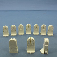 10 Leviton Fluorescent Light Sockets T-5 Lampholder Mini Bi-Pin with Tall Profile 23654-TWP