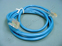 New Leviton Blue Cat 5 Ethernet LAN 5-Foot Patch Cord Network Cable 5Ft 52454-5L