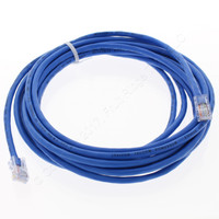Leviton Blue Cat 5 15 Ft Ethernet LAN Patch Cord Network Cable Cat5 52455-15L