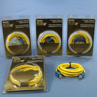 5 Leviton Yellow Cat 5 7 Ft Ethernet LAN Patch Cords Network Cables Cat5 Red Boot 5G454-7R