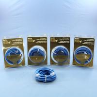 5 Leviton Blue Cat 5 15 Ft Ethernet LAN Patch Cords Network Cables Cat5 52454-15R
