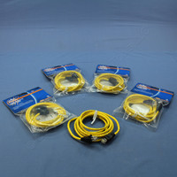 5 Leviton Yellow Cat 5e 7 Ft Ethernet LAN Patch Cords Network Cables Booted Cat5e 5G455-7YW