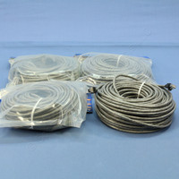 4 Leviton Gray Booted Cat 5e 100 Ft Ethernet LAN Patch Cords Network Cables Cat5e 5G455-100G