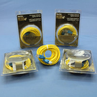 5 Leviton Yellow Cat 5 15 Ft Ethernet LAN Patch Cords Network Cables Cat5 Red Boot 5G454-15R
