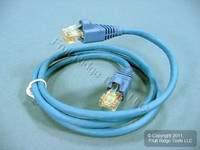 Leviton Blue Cat 5e 3 Ft Ethernet LAN Patch Cord Network Cable Booted Cat5e AG500-03L