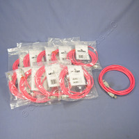 10 Leviton Red Cat 6 10 Ft Ethernet LAN Patch Cords Network Cables Booted Cat6 62455-10R