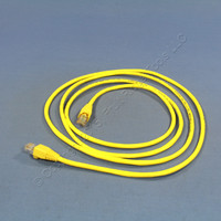 Leviton Yellow Cat 5 7 Ft Ethernet LAN Patch Cord Network Cable Cat5 Yellow Boot 5G454-7Y