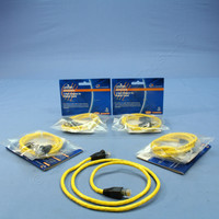 5 Leviton Yellow Cat 5e 3 Ft Ethernet LAN Patch Cords Network Cables Booted Cat5e 5G455-3YW