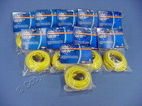 10 Leviton Yellow Cat 5e 15 Ft Ethernet LAN Patch Cords Network Cables Booted Cat5e 5G455-15Y