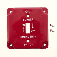 Amerelle Oil Burner Emergency Utility 2-Gang 1-Toggle Mini Small Sized Wallplate