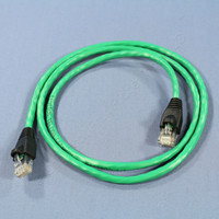 Leviton Green Cat 5e 3 Ft Ethernet LAN Patch Cord Network Cable Booted Cat5e 5G455-3G