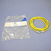Leviton Yellow Gigamax Slimline Cat 5e 15Ft Ethernet LAN Patch Cord Network Cable Booted Cat5e 5D460-15Y