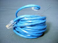 Leviton Blue Cat 5 15 Ft Ethernet LAN Patch Cord Network Cable Cat5 52455-15B